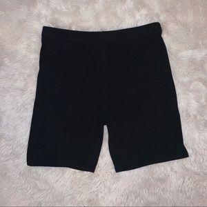 Black Spandex Blend Shorts